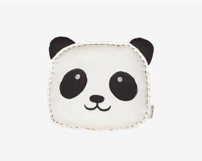 Peekaboo panda organic shape cushion thumb