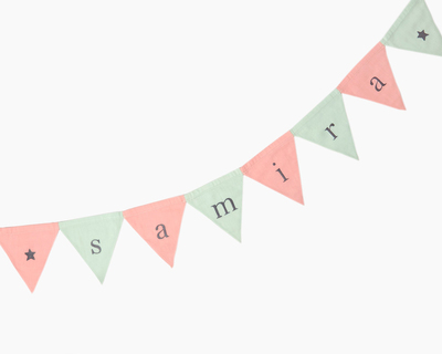 Triangle bunting pink celadon thumb