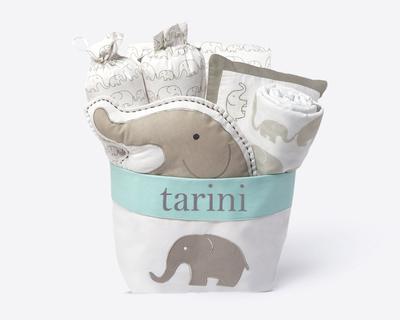 Elephant parade rock my crib gift basket thumb
