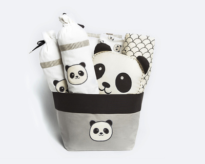 Peekaboo panda rock my crib gift basket thumb