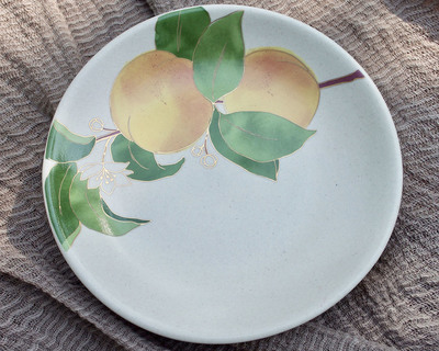 Postcards from simla apricot appetizer plates thumb