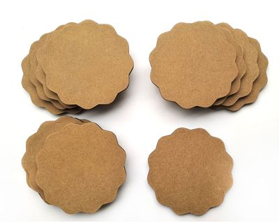 Ivei diy coasters scallop shaped set of 12 thumb
