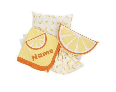 Personalized citrus theme cot bedding set thumb