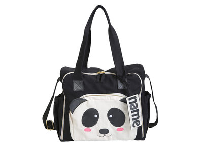 Organic panda diaper bag thumb