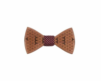 Triangle wooden bowtie thumb