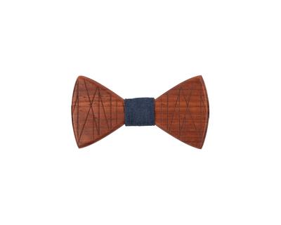 Criss cross wooden bowtie thumb