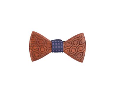 Hexagon wooden bowtie thumb