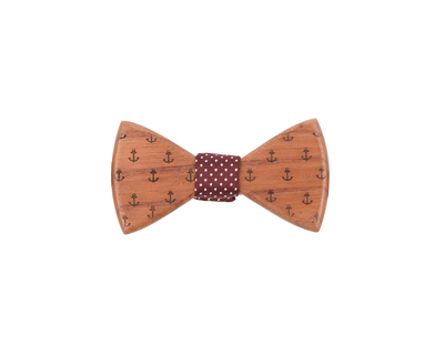 Anchor the sails wooden bowtie thumb