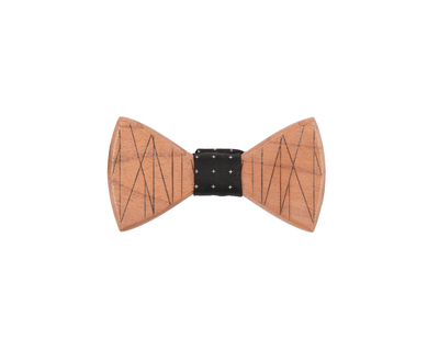 Criss cross steam beach wooden bowtie thumb