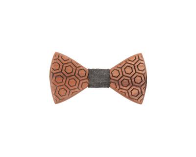 Hexagon steam beach wooden bowtie thumb