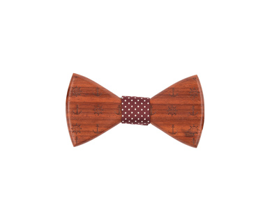 Anchor the sails padauk wooden bowtie thumb