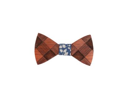 Vintage padauk wooden bowtie thumb
