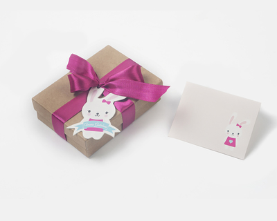 Stationery for the little ones bunny luxury thumb