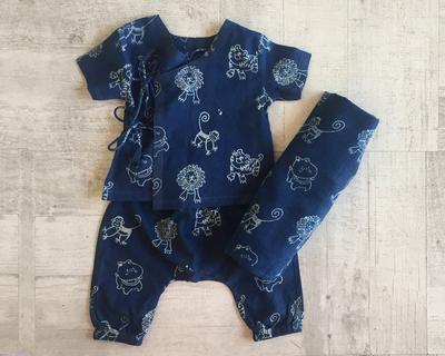 Zoo baby angarakha pyjama pants and swaddle set 613 zoo baby angarakha pyjama pants and swaddle thumb
