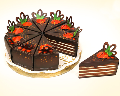 Chocolate cake gift boxes set of 10 thumb