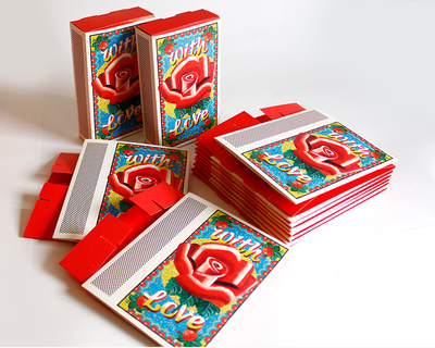 With love matchbox gift boxes set of 10 thumb