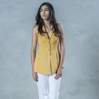 Shawl collar tailored top small