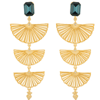 Fanned out statement earrings small