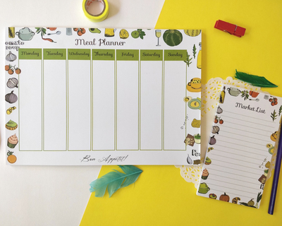 Meal planner market list set thumb