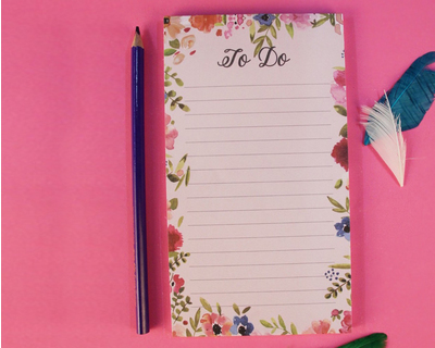 Vintage floral design to do list thumb