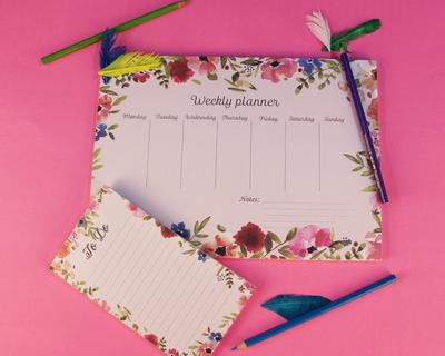 Vintage floral design planner set thumb