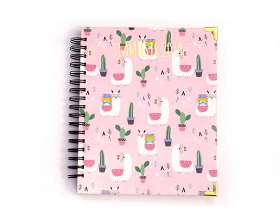 Llamaste 2019 day planner pink thumb