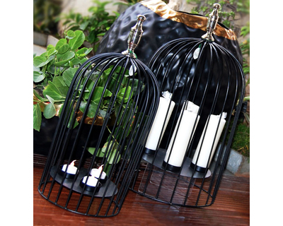 Bird cage candle stand small thumb