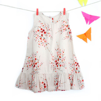Floral printed linen dress small