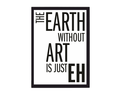 Earth without art poster thumb