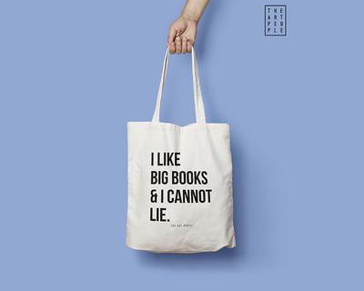 I like big books i cannot lie tote bag thumb