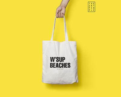 W sup beaches tote bag thumb