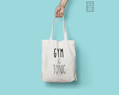 Gym tonic tote bag thumb