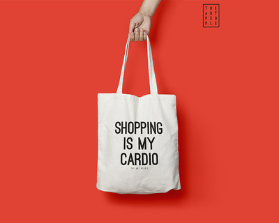 Shopping is my cardio tote bag thumb