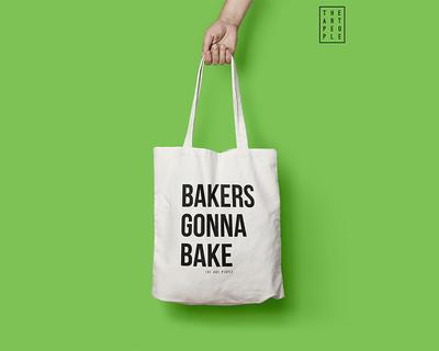 Bakers gonna bake tote bag thumb