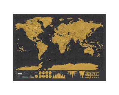 Personalized world scratch map thumb