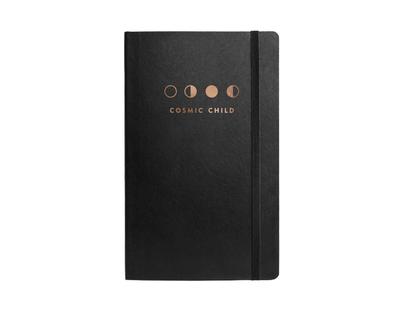 Cosmic journal with elastic band thumb