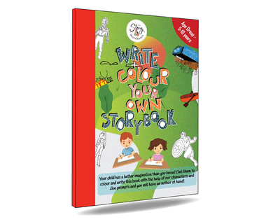 Write colour your own story book thumb