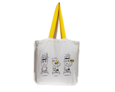 Think eat repeat tote thumb
