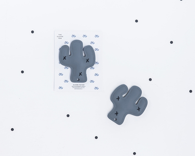 The cactus silicone teether thumb