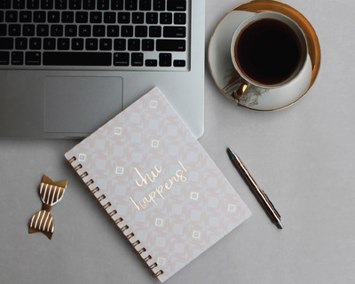 Chic happens notebook thumb