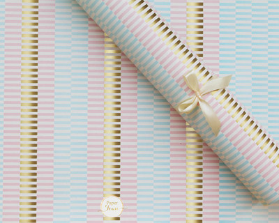Pastel gold wrapping paper thumb