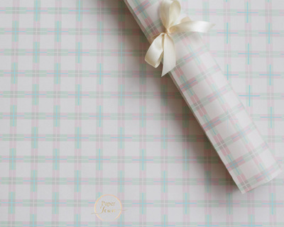 Criss cross pastel wrapping paper thumb