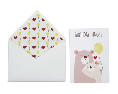 Birthday hugs love card thumb