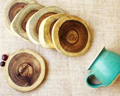 Vanaa natural wooden coasters thumb