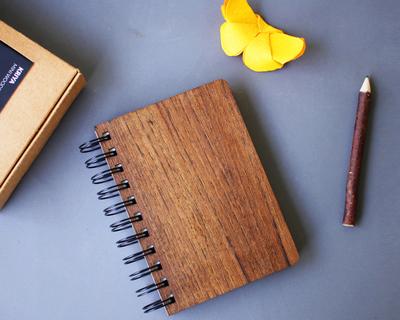 Kriya a6 wooden pocket notebook thumb