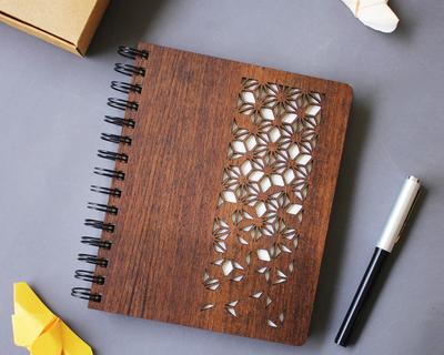 Himalayan musk premium wooden notebook thumb