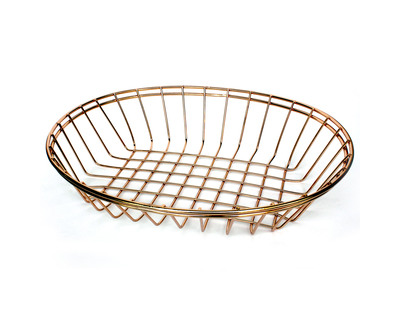 Feyre rose gold multipurpose oval basket thumb