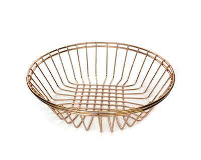 Feyre rose gold multipurpose round basket thumb