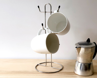 Stainless steel kitchen tea mug stand thumb