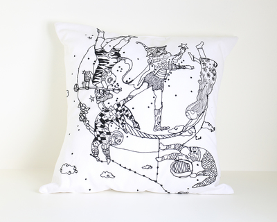 Celestial trapeze cushion cover thumb